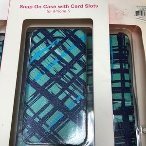 Snap on case with card slot.